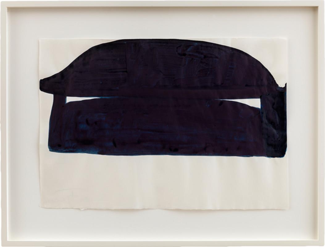 Suzan Frecon-untitled dark blues composition-2014