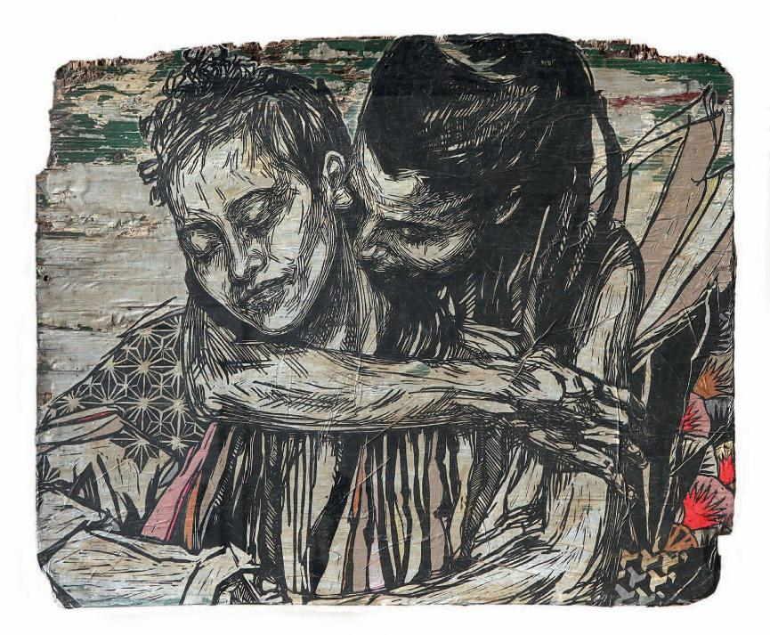 Swoon - Alixa & Naima, 2010 (78.5 x 96 cm)