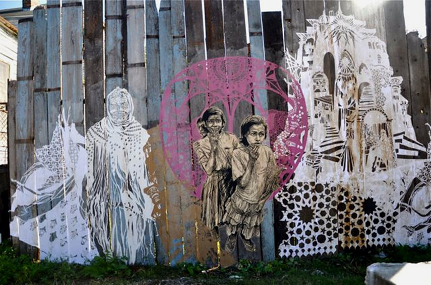 Swoon - Dithyrambalina Project - image via brooklynstreetart