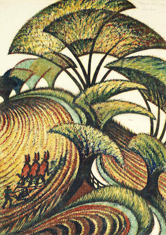 Sybil Andrews-Fall of the Leaf-1934