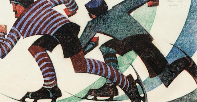 Sybil Andrews-Skaters-1953