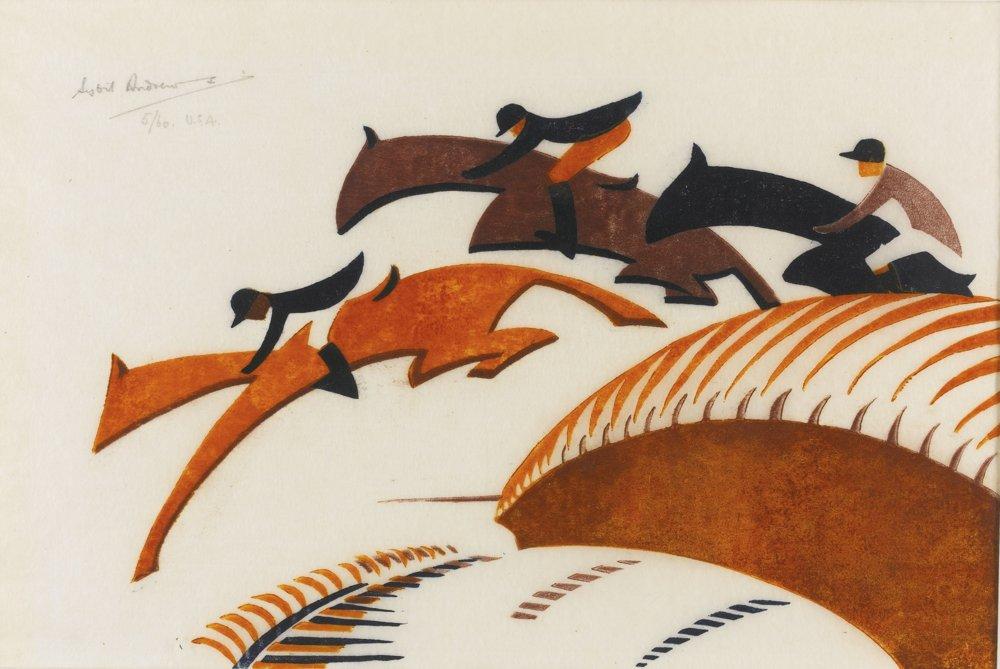 Sybil Andrews-Steeplechasing-1930