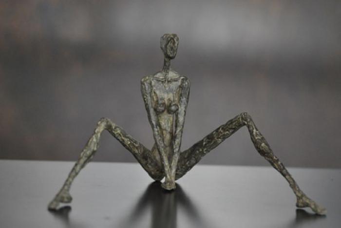 sculpture, nude, bronze, Sylvie Mangaud, figure