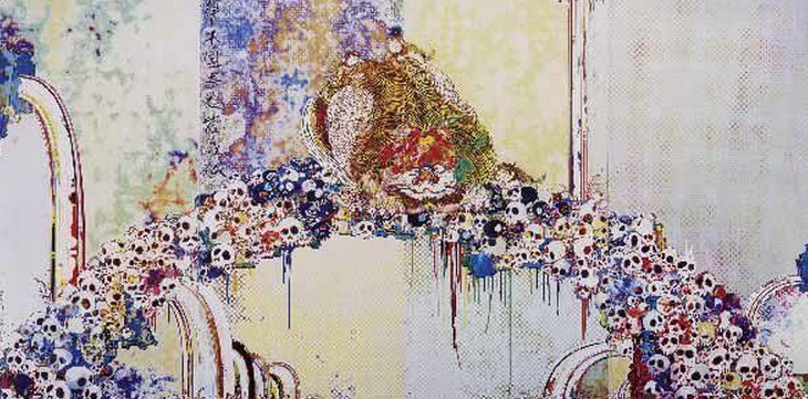 Takashi Murakami-A Picture of Blessed Lion Who Stares at Death-2010