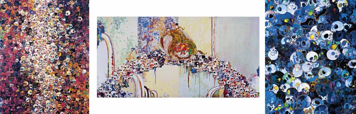 Takashi Murakami-A Picture Of The Blessed Lion Who Stares At Death, MCBST-1959, I Know Not I Know-2011