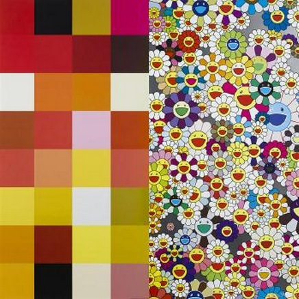 Takashi Murakami-Acupuncture-Flowers (Checkers)-2008