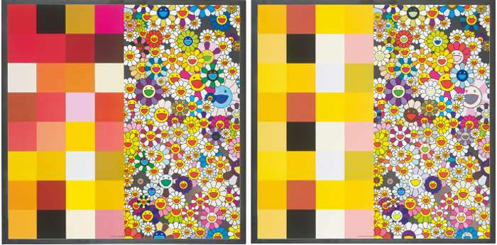 Takashi Murakami-Acupuncture Flowers (Checkers), Acupuncture Flowers-2008
