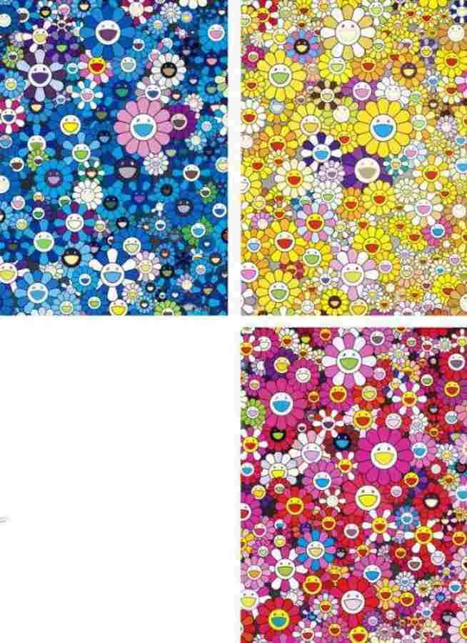 Takashi Murakami-An Homage to IKB 1957 B, An Homage to Monopoink 1960 B, An Homage to Yves Klein multicolor B-2012