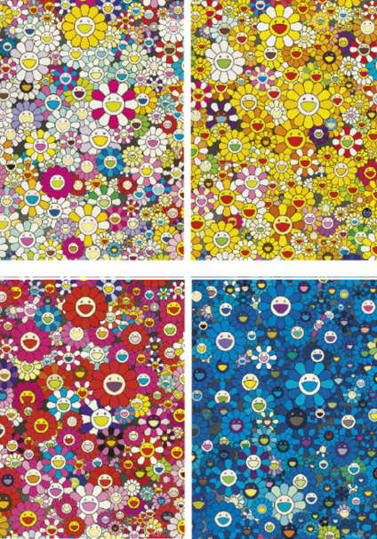 Takashi Murakami-An Homage to Monogold 1960 A, An Homage to IKB, 1957, An Homage to Monopink, 1960, An Homage to Yves Klein Multicolor D-2012