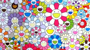 Takashi Murakami - An Homage to Yves Klein Multicolor, G (detail), 2013