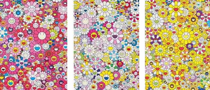 Takashi Murakami-An Hommage to Monopink 1960 A, An Homage to Monogold 1960 A, An Homage to Yves Klein, Multicolor A-2012
