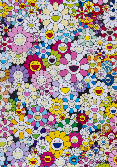 Takashi Murakami-An Hommage to Yves Klein, Multicolor A-2012