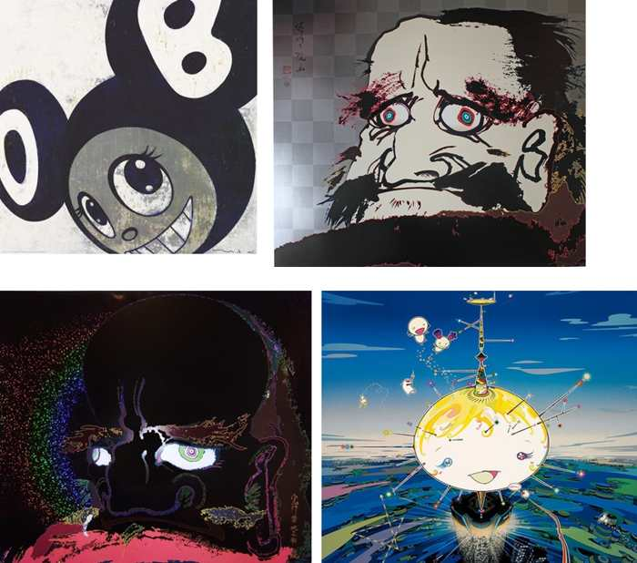 Takashi Murakami-And then and then, I open wide my eyes but see no scenery I fix my gaze upon my heart, My arms and legs rot off and though my blood rushes forth, the tranquility of my heart shall be prized above all, Mamu Came from the Sky-2007
