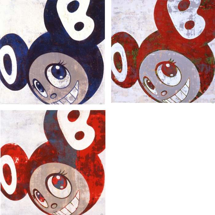 Takashi Murakami-And Then (Blue, Red, Red wariant)-2006