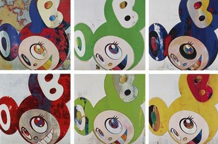 Takashi Murakami-And Then (Gargie glop, Kappa, Cream, Red, Green truth, Lemon Pepper)-2006