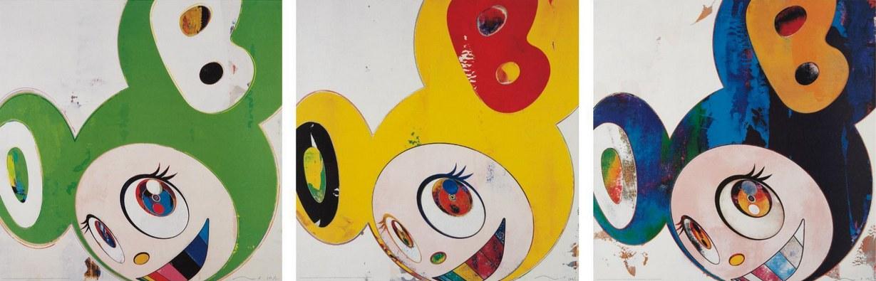 Takashi Murakami-And Then (Green Truth, Lemon Pepper, Cream)-2006
