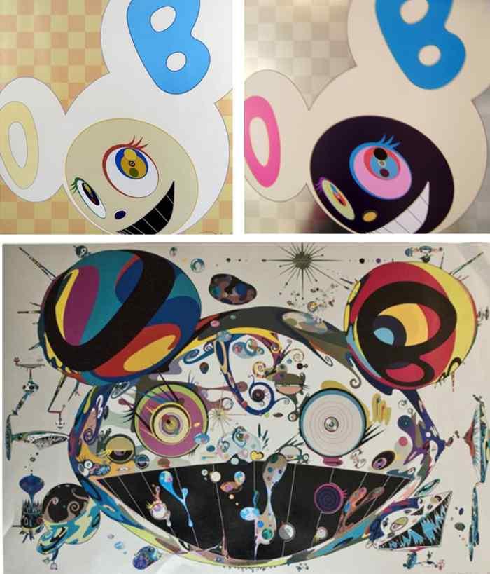 Takashi Murakami-And Then Ichimatsu Pattern, And Then Platinum, Tan Tan Bo-2001