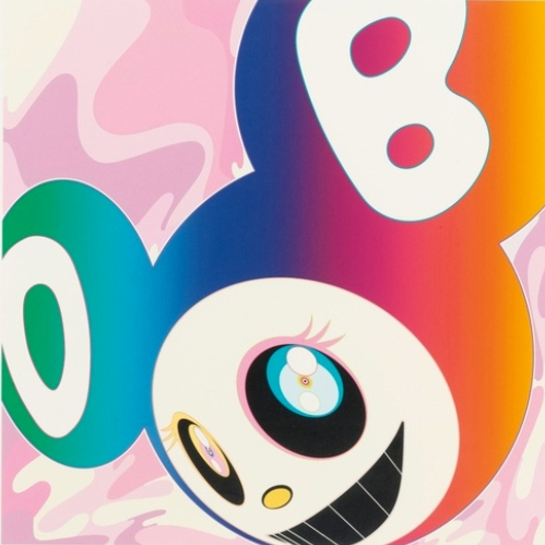 Takashi Murakami-And Then (Rainbow Silkscreen)-2005