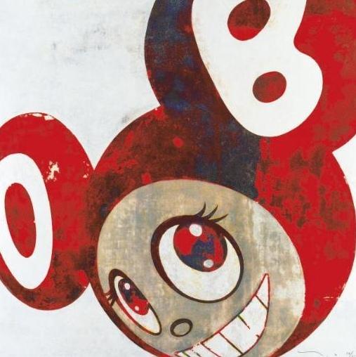 Takashi Murakami-And Then (Red Dob)-1996
