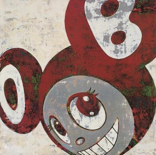 Takashi Murakami-And Then (Red and Green DOB)-1996