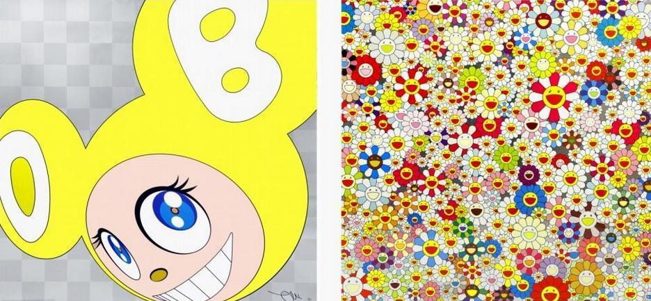Takashi Murakami-And Then (Yellow), Field of Smiling Flowers-2011