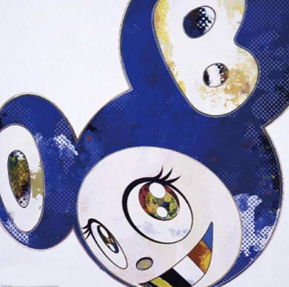 Takashi Murakami-And Then x 6 (Blue: The Polke Method)-