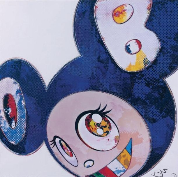 Takashi Murakami-And Then x 6 (Blue-the Superflat Method)-2013