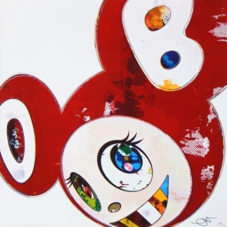Takashi Murakami-And Then x 6 Red (The superflat method)-2013