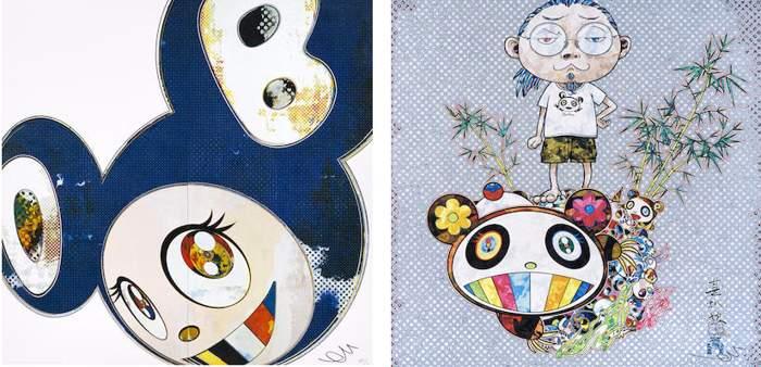 Takashi Murakami-And Then x6 (Blue), I Met a Panda Family-2013