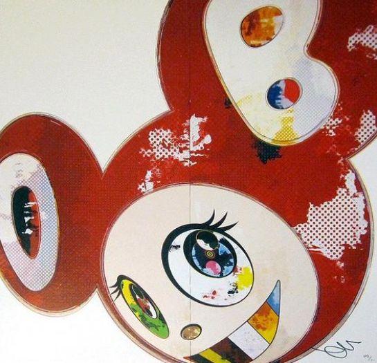 Takashi Murakami-And Then x6 Red-2013