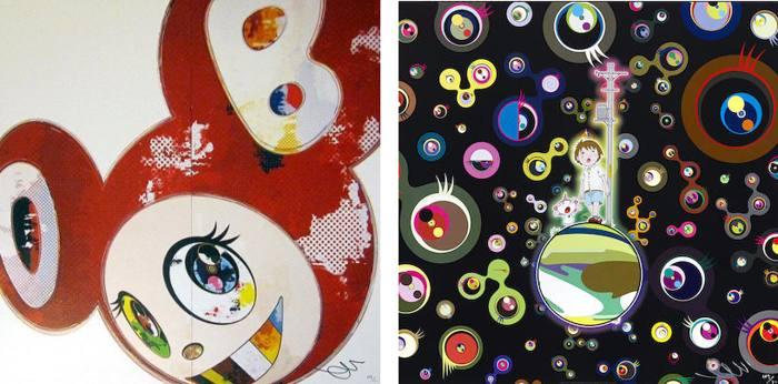 Takashi Murakami-And Then x6 Red, Jellyfish Eyes-2013