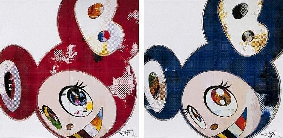 Takashi Murakami-And then x6 Red, And then x6 Blue-2013
