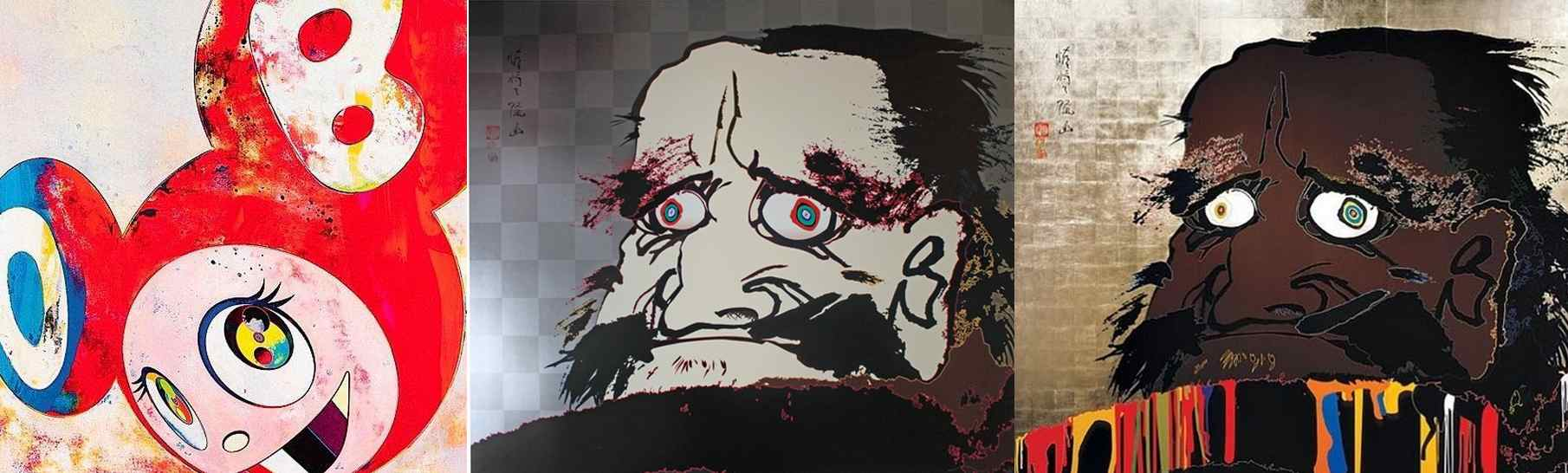 Takashi Murakami-And then (Red and Blue), That I May Time Transcend That A Universe My Heart May Unfold, And I Open Wide My Eyes But See No Scenery I Fix My Gaze Upon My Heart-1996