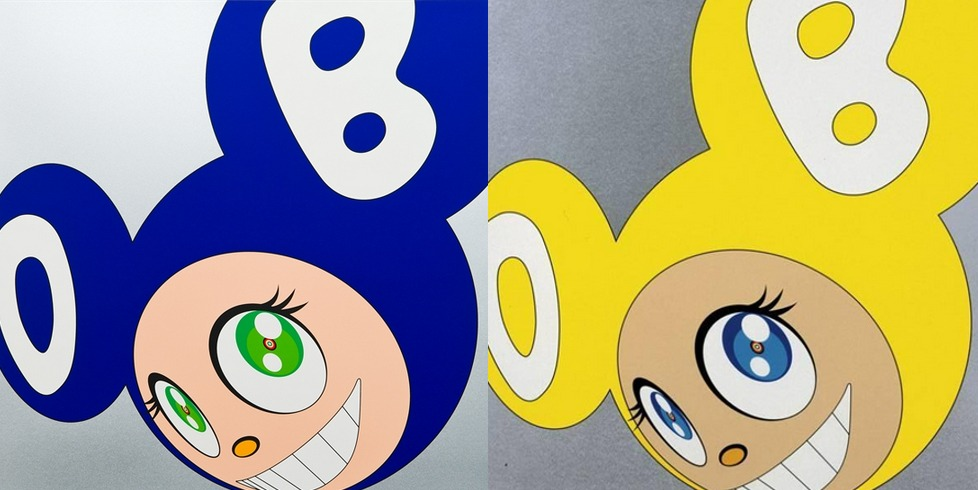 Takashi Murakami-And then (Yellow, Blue)-1999