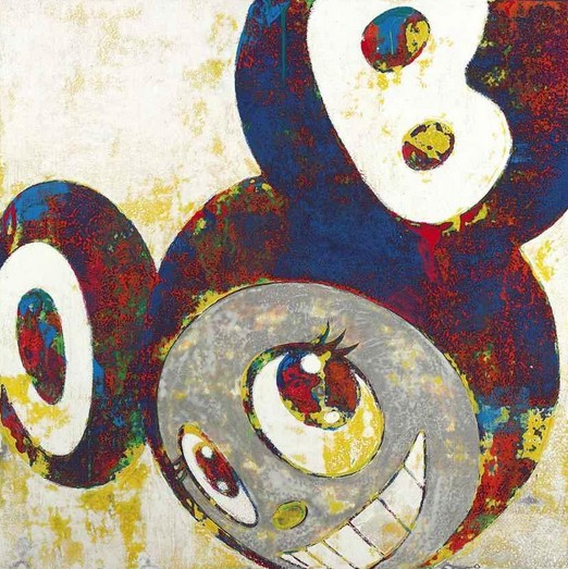Takashi Murakami-And then, and then and then and then and then (Blue Painting)-1996