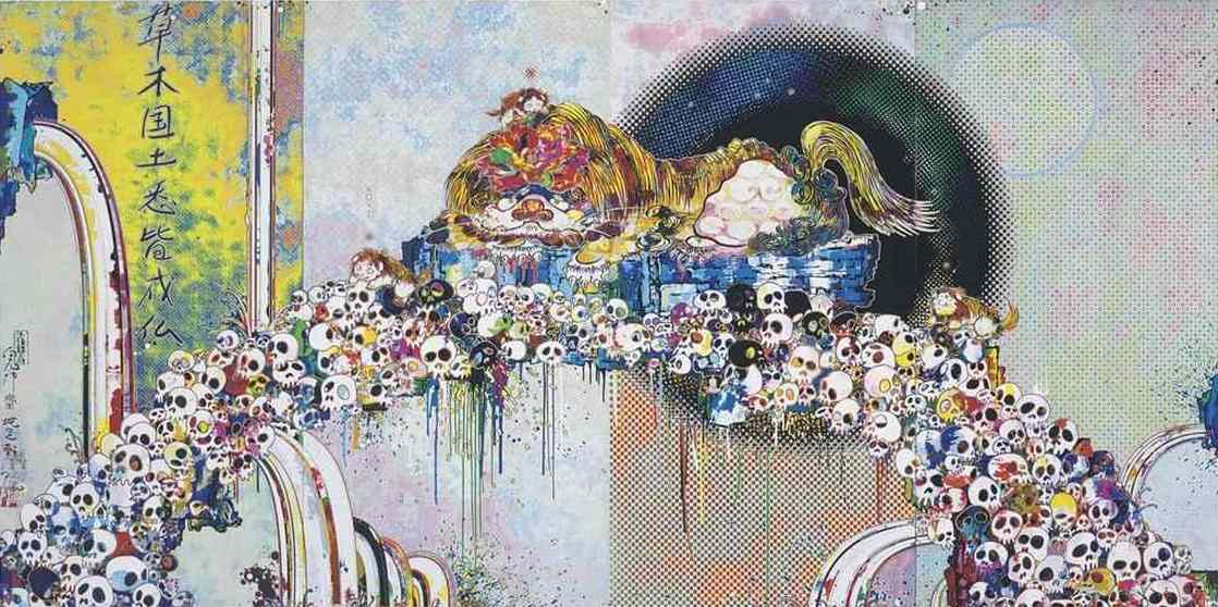 Takashi Murakami-As the Interdimensional Waves Run Through Me, I Can Distinguish Between The Voices of Angel and Devil-2012