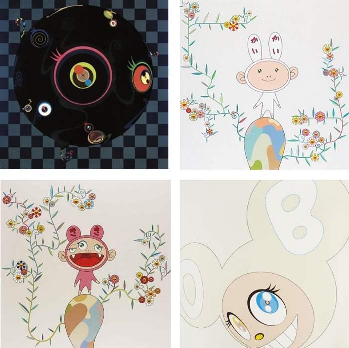 Takashi Murakami-Blackbeard, Kaikai with Moss, Kiki with Moss, White DOB-2003