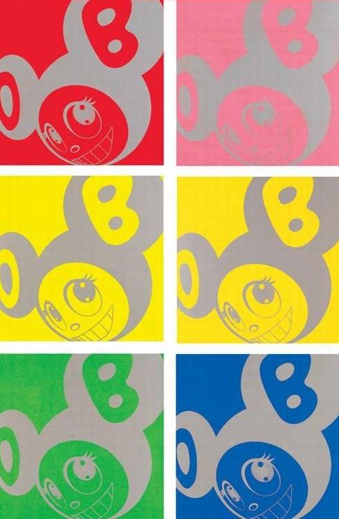 Takashi Murakami-But, ru, rururu... (Red, Pink, Lemon, Yellow, Green, Blue)-1994