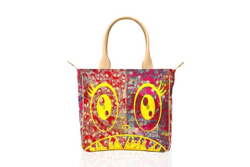 Takashi Murakami - Canvas Handbag - Red Skulls : Yellow : Flowers Interior, 2019