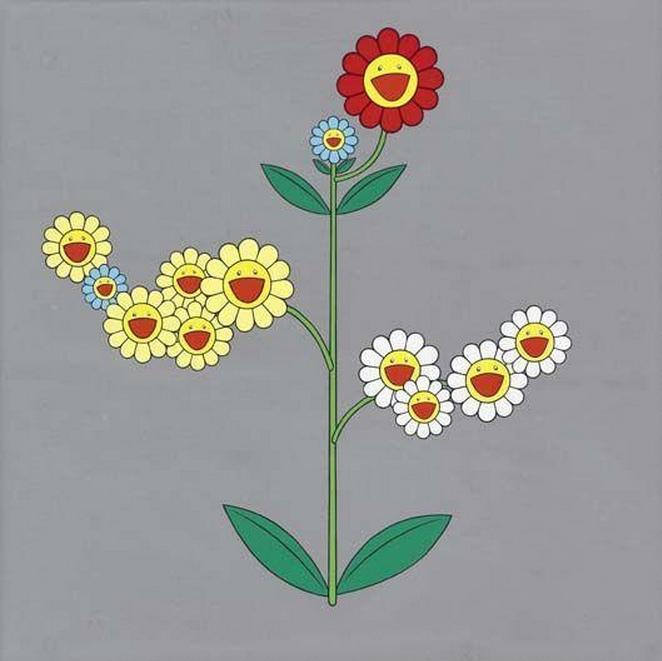 Takashi Murakami-Cosmos (Three Vines)-1998
