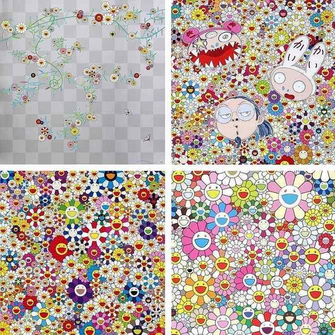 Takashi Murakami-Cube 2, Kaikai Kiki And Me - The Shocking Truth Revealed, If I Could Reach That Field of Flowers I Would Die Happy, Flower Smile-2011