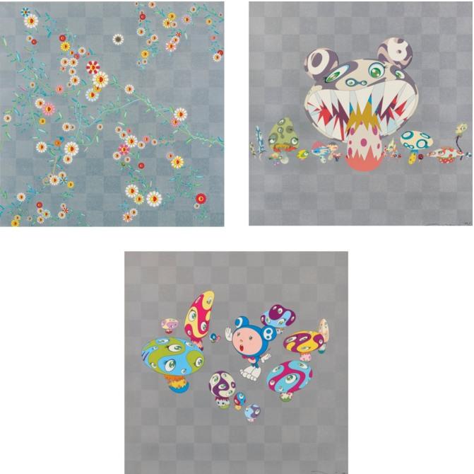 Takashi Murakami-Cube; Here Comes Media; !N- Cha!-2001