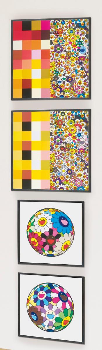 Takashi Murakami-Acupuncture Flowers (Checkers), Acupuncture Flowers, Flower Ball (Algae Ball), Flower Dumpling-2013
