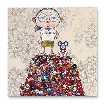 Takashi Murakami-DOB & Me: On the Red Mound of the Dead-2013