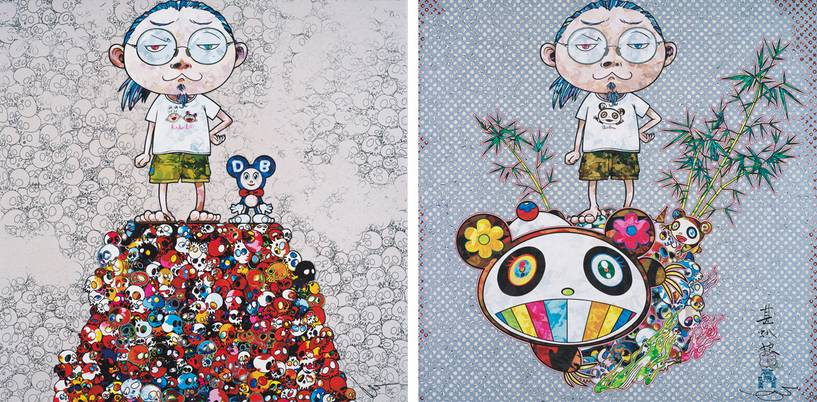 Takashi Murakami-DOB & Me on the Red Mound of the Dead, I Met a Panda Family-2013
