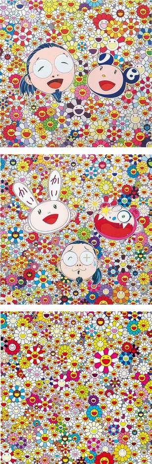 Takashi Murakami-DOB and Me, KaiKai KiKi and Me, Flower Smile-
