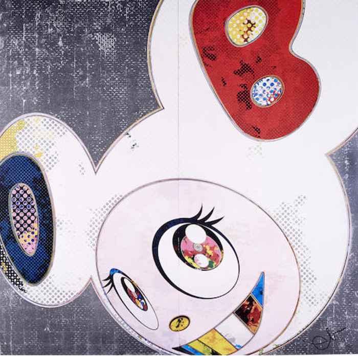 Takashi Murakami-DOB in Pure White Robe (Pink & Blue); DOB in Pure White Robe (Navy & Vermillion)-2013