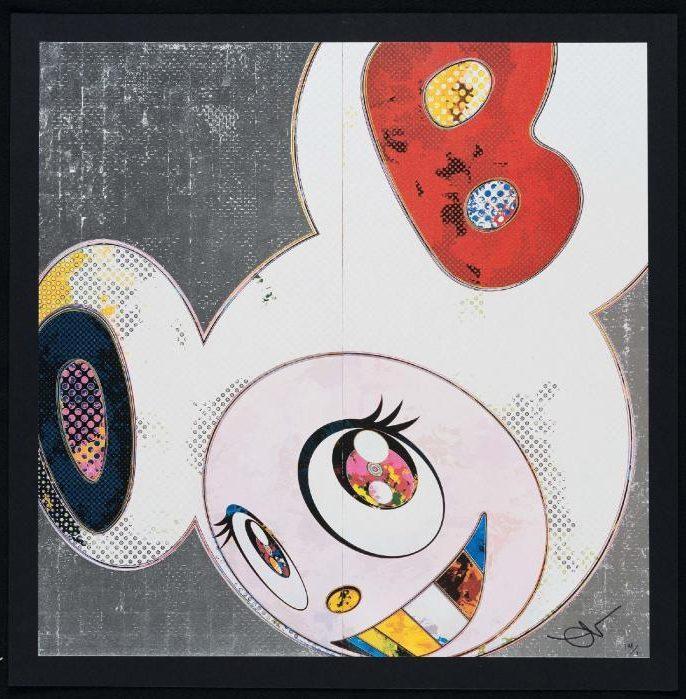 Takashi Murakami-DOB in Pure White Robe (Blue and Red)-2013