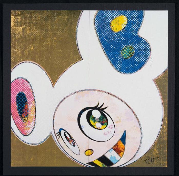 Takashi Murakami-DOB in Pure White Robe (Pink and Blue)-2013
