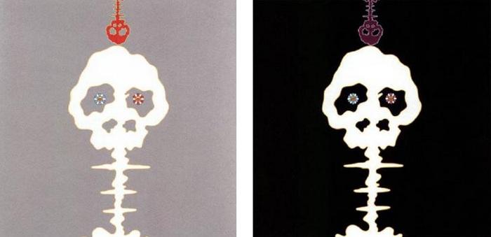 Takashi Murakami-Dokuro Silver, Dokuro Black 2-2001